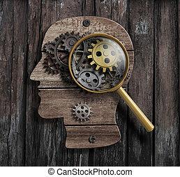 psychologie, of, verzinnen, concept., hersenen, functie, model.