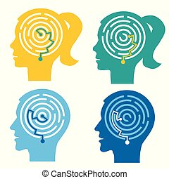 psychologique, concept, essais