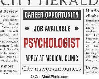 Psychologist career