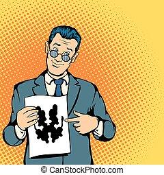 Psychologist concept, comics style - Psychologist concept in...
