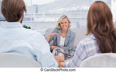 psychologue, couple, parler