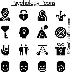 Psychology icon set