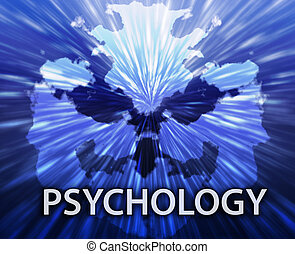 Psychology inkblot background