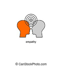 psychology logo, empathy icon