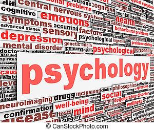 Psychology message conceptual design. Mental health sign...