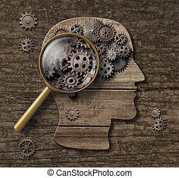 Psychology or brain research concept 3d illustration