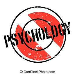 Psychology rubber stamp. Grunge design with dust scratches....