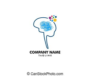 Psychology Vector Logo Template Design
