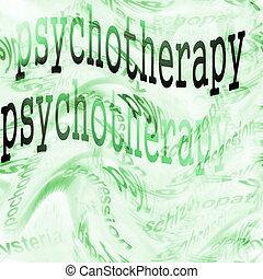 psychothérapie, concept