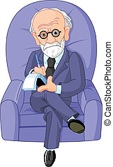 Psychotherapist - Psychotherapist on a psychotherapy session...