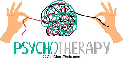 Psychotherapy concept icon - Psychotherapy concept...