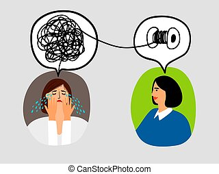 Psychotherapy concept illustration - Psychotherapy concept...