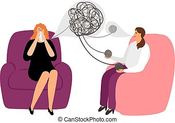 Psychotherapy concept with female patient - Psychotherapy...