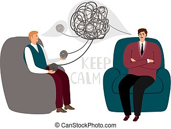 Psychotherapy counsel concept, psychotherapist doctor and...