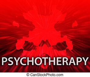 Psychotherapy inkblot background