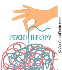 Psychotherapy poster on white - Psychotherapy poster, human...