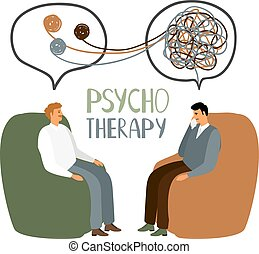 Psychotherapy treatment concept - Psychotherapy treatment,...