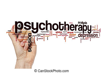 Psychotherapy word cloud concept