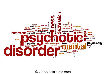 Psychotic disorder word cloud concept