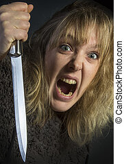 Psychotic Woman - A psychotic young woman - domestic...