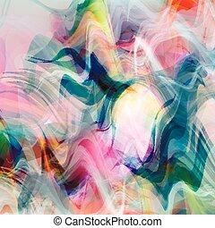 psyhodelic, roze, gekleurde, abstract, lijnen, blue.eps, vector, achtergrond, inkt, style.