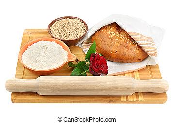 pszenica, pył, bread, ziarno