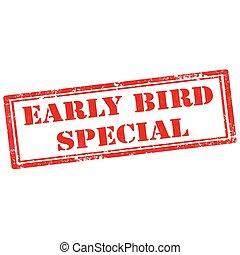 ptáček, časný, special-stamp