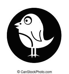 ptáček, ikona