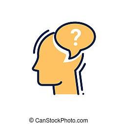ptát se, -, moderní, vektor, řádka, design, svobodný, icon.