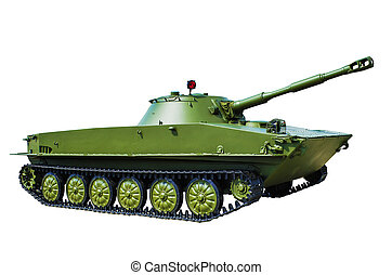PT-76 is a Soviet amphibious light tank