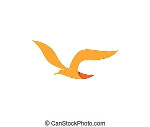 Logo Ptak Szablon Logo Wektor Ptak Ilustracja Szablon Pliki