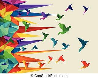 ptak, wektor, ilustracja