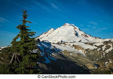 Ptarmigan Ridge on slopes of snowcapped Mount Baker, Washington state Cascades