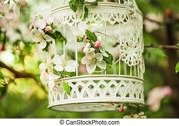 ptaszek wsadzą, -, romantyk, dekoracje