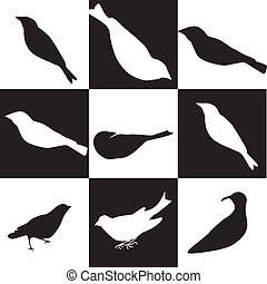 ptaszki, ikony