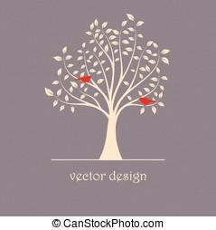 ptaszki, na, przedimek określony przed rzeczownikami, drzewo