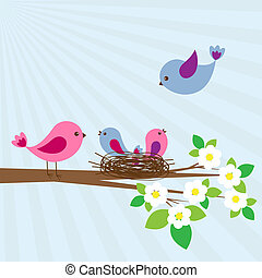 ptaszki, rodzina