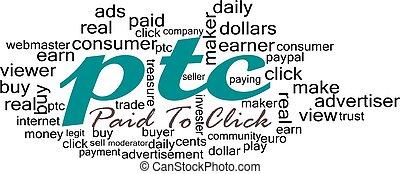 PTC tag cloud - Clou tags of ptc earning