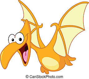 Pterodactyl dinosaur flying