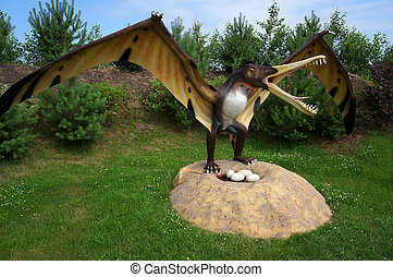pterodactyl., model, cearadactylus.