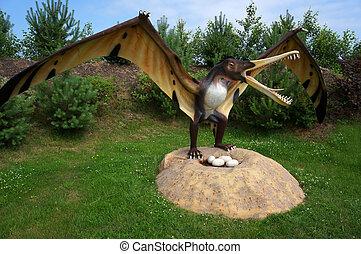 pterodactyl., modell, cearadactylus.