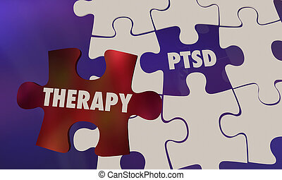 PTSD Post Traumatic Stress Disorder Therapy Puzzle 3d ...