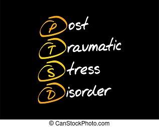 PTSD - Posttraumatic Stress Disorder, acronym concept ...