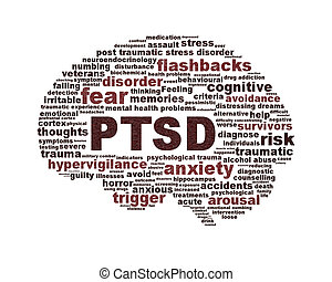 PTSD symbol conceptual design isolated on white