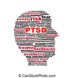 PTSD symbol design isolated on white background. Anxiety ...