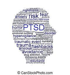 PTSD symbol isolated on white background