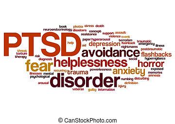 PTSD word cloud - PTSD concept word cloud background