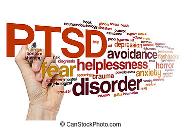 PTSD word cloud - PTSD concept word cloud background