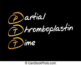 PTT - Partial Thromboplastin Time acronym, medical concept ...