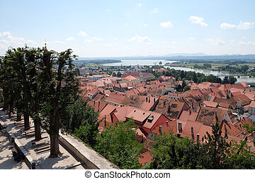 Ptuj, town on the Drava River banks, Lower Styria Region, ...